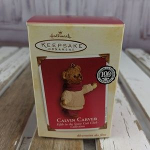 Hallmark keepsake ornament xmas tree Calvin bear C